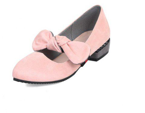 Velveteen Sweet Medium Thick with Simple Student Shoes - PINK EU 42