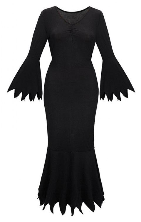 Costume for Halloween Ghost Performance - BLACK L
