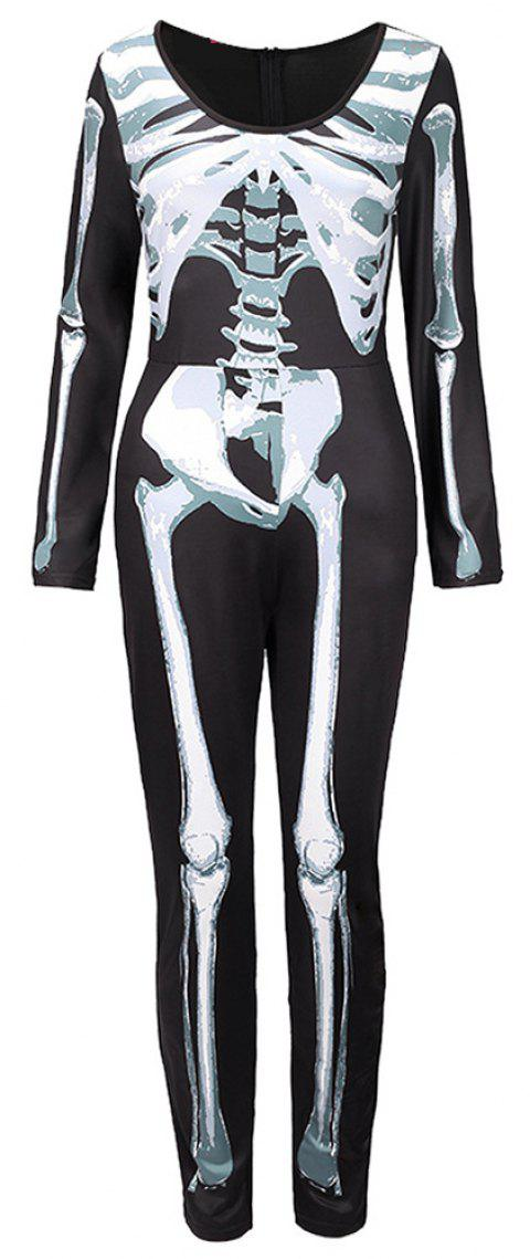 Halloween Skeleton Skeleton Costumes for Costumes - BLACK XL