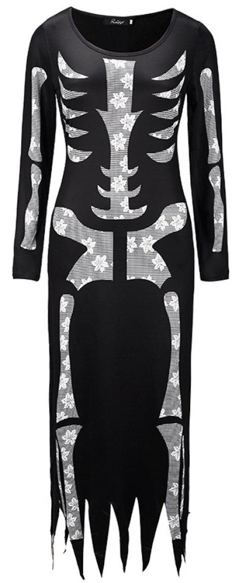 Halloween Skeleton Skeleton Costumes - BLACK 2XL