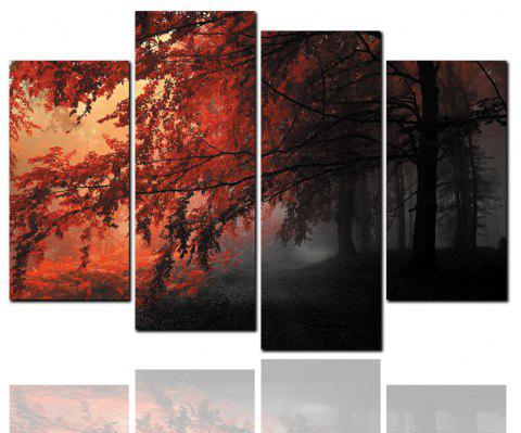 4 Pcs HD Inkjet Paints Autumn Deciduous Landscape Decorative Painting - multicolor Y 30CM*60CM*2PCS+30CM*80CM*2PCS