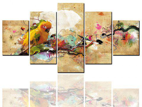 5 peintures à jet d'encre HD peintures abstraites perroquet anime peinture décorative animale - multicolor Y 1PC X 8 X 20,2PCS X 8 X 12,2PCS X 8 X 16 INCH( NO