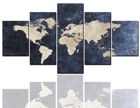 2018 5 pcs hd inkjet paints abstract world map decorative painting 5 pcs hd inkjet paints abstract world map decorative painting multicolor y 1pc x 12 gumiabroncs Images