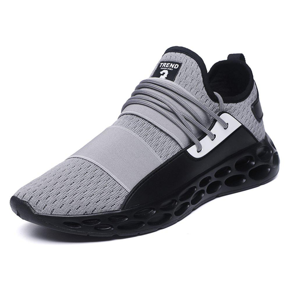 High Elastic Rubber Non-Slip Large Size Sneakers Wear Resistant Non-Skid Running - GRAY EU 42