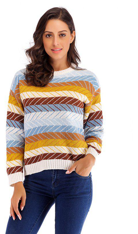 6e7d89f7395 Autumn and Winter New women S Sweater Wild Fashion Warm Sweater - GOLDEN  BROWN ONE SIZE