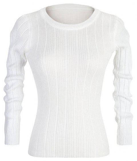 Slim women'S Autumn New Casual Stretch Bottoming Shirt Knit Sweater - WHITE ONE SIZE