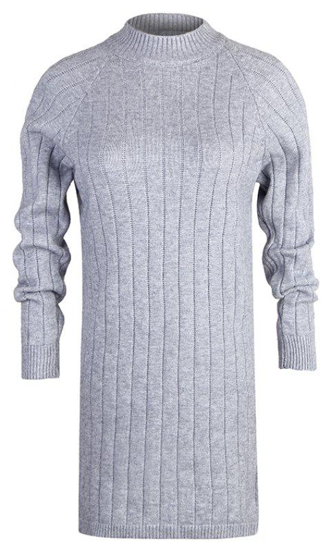 Autumn and Winter New Sweater Half-Necked Loose Pullover Sweater - LIGHT GRAY ONE SIZE