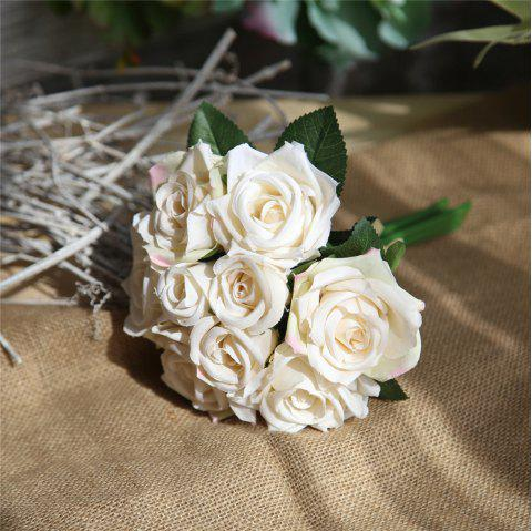 2018 Wedding Bridal Bouquet Artificial Flower Rose Home Decorations