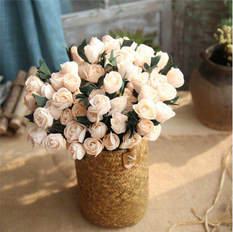 Vivid Tulip Artificial Flower Bridal Bouquet Wedding Home Party Decorations - CHAMPAGNE