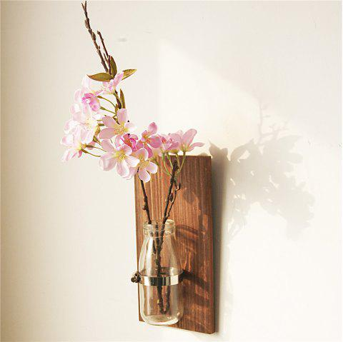 Wall Decorative Flower Bottle Novel Glass Home Wall Mounting Display - multicolor A