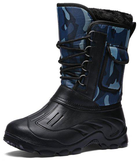 Men'S Non-Slip High-Top Keep Warm Snow Boots - PEACOCK BLUE EU 42