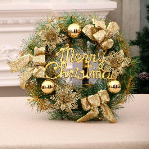 merry christmas wreath with bow handcrafted new year elegant holiday yellow 4040cm