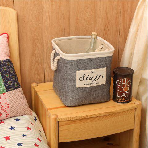 Storage Bucket Brief Style Linen Creative Environmental Clothes Container - SLATE GRAY