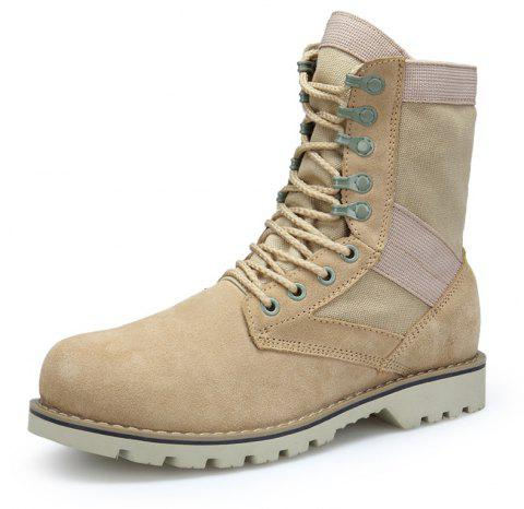 Men'S High-Top Leather Non-Slip Wear-Resistant Outdoor Tooling Boots - multicolor A EU 37