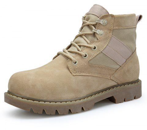 Men'S High-Top Leather Non-Slip Wear-Resistant Outdoor Tooling Boots - multicolor B EU 40
