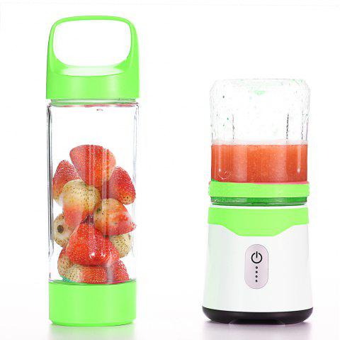 Portable Mini - Charger Juicer One Double Cup - Chartreuse USB PORT