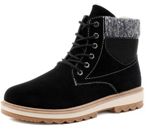 Winter Men'S Plus Velveteen  Cotton Boots - BLACK EU 39