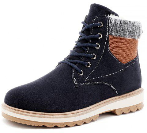 Winter Men'S Plus Velveteen  Cotton Boots - DEEP BLUE EU 39