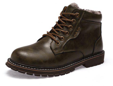 Men'S High-Top Leather Wear-Resistant Anti-Skid Workwear Boots - multicolor A EU 40