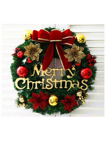 merry christmas wreath with bow handcrafted new year elegant holiday wreath