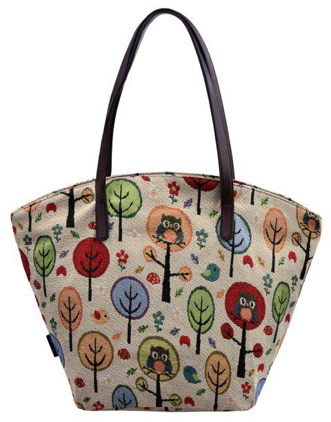 41d0d9a79 DouGuYan Beach Canvas Shopping Travel Tote Bags Picnic Handbags for Women -  multicolor B