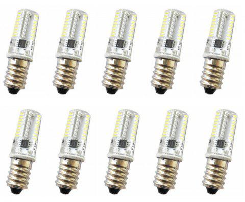 OMTO 10PCS G4 G9 3014 LED E11/12/14/17 64Led 220V Crystal Lighting Bi-pin Light - COOL WHITE E14