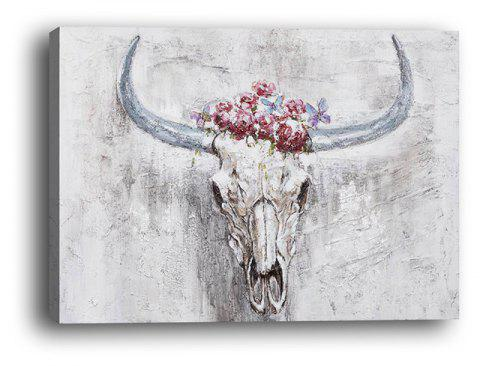 Modern Living Room Bedroom Background Wall Abstract Sheep Head Decoration Print - multicolor 40CMX60CM