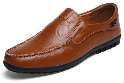 Men'S High Quality Leather Shoes - LIGHT BROWN EU 38