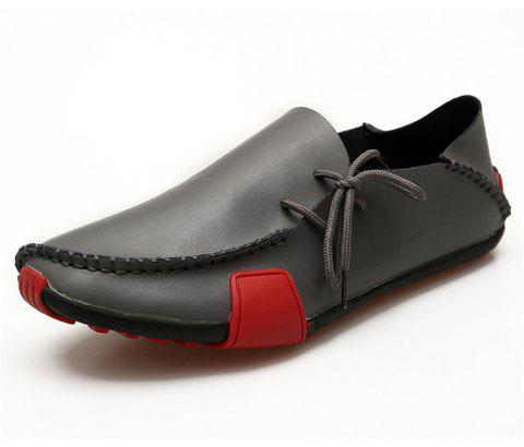 Men'S Hand-Made Suture Fashionable Lightweight Driving Shoes - CARBON GRAY EU 39