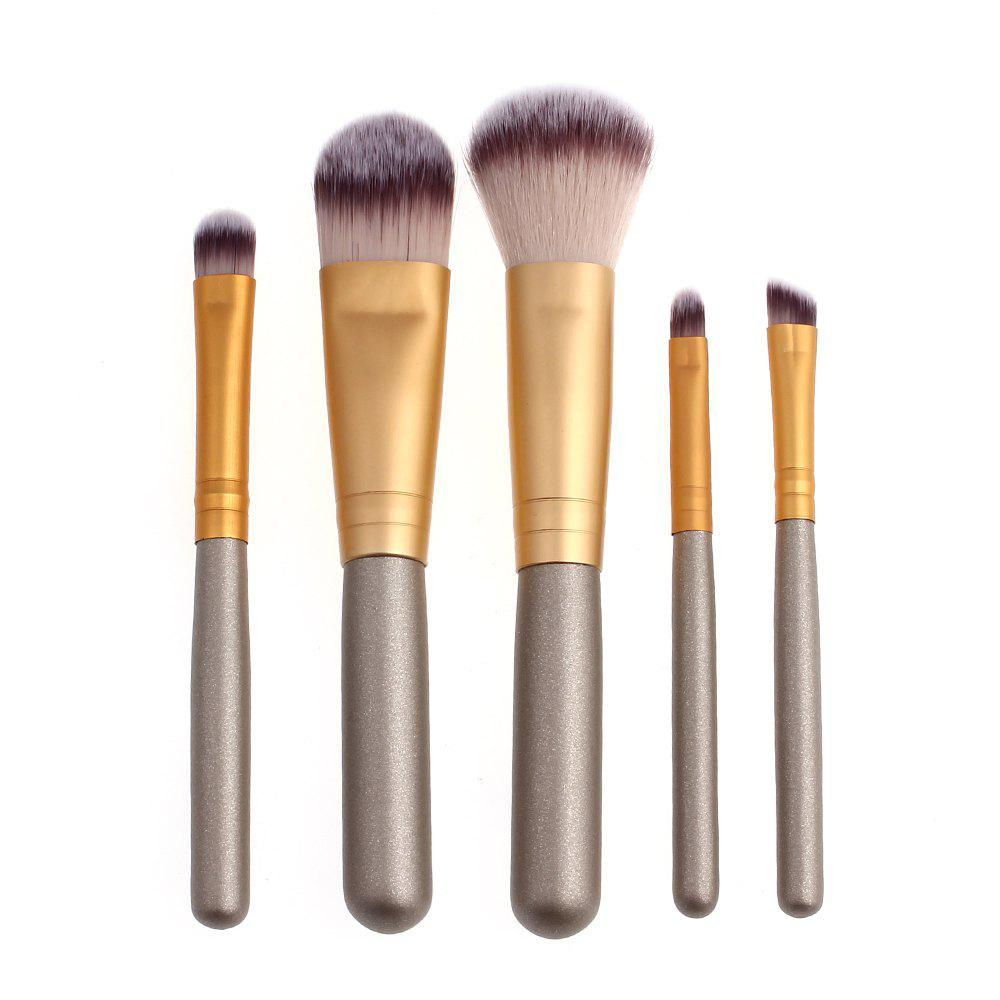High Quality 5 PCS Makeup Brush Set Wood Handle Travel Kit
