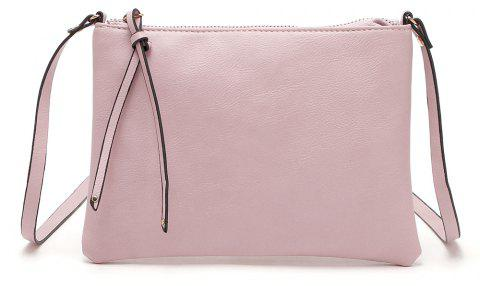 Casual Crossbody Bags for Women PU Leather Messenger Bags Female Flap Handbag - PINK