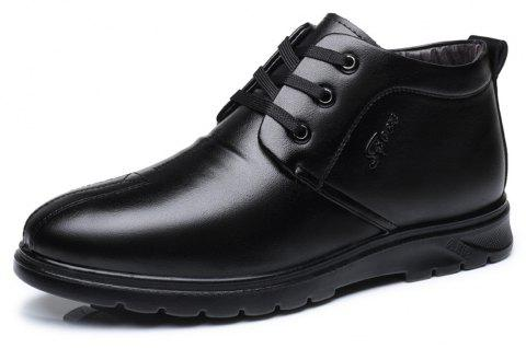 Men'S Business Casual Villus High Shoes - BLACK EU 39