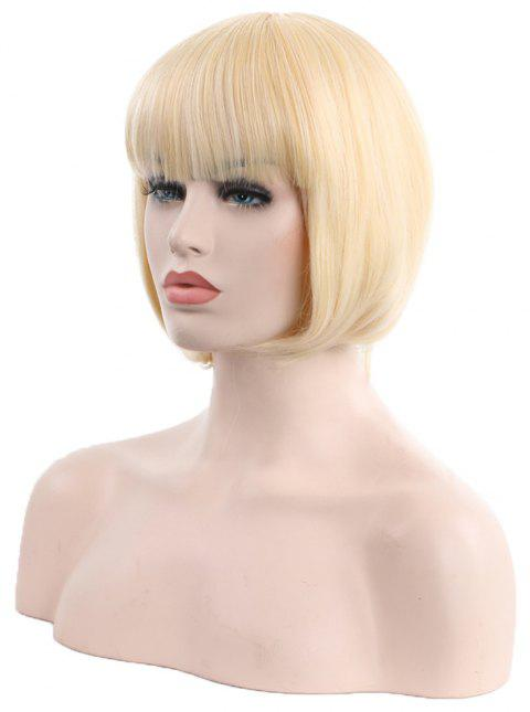 Students Have Short Hair with Long Bangs - BLONDE