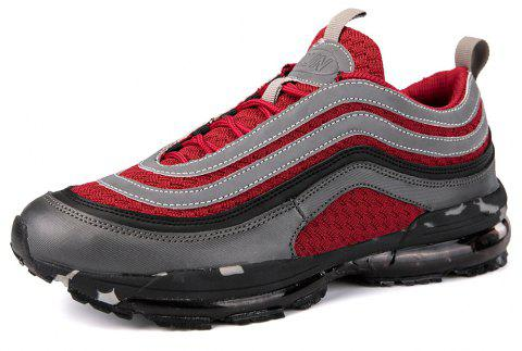 Men'S Lightweight Shock Absorption Breathable Flying Mesh Sports Running Shoes - RED EU 40