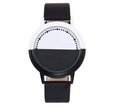 Fashion LED Touch Screen Black and White Shell Watch - BLACK REGULAR