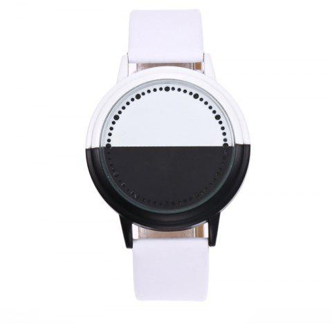 Fashion LED Touch Screen Black and White Shell Watch - WHITE REGULAR