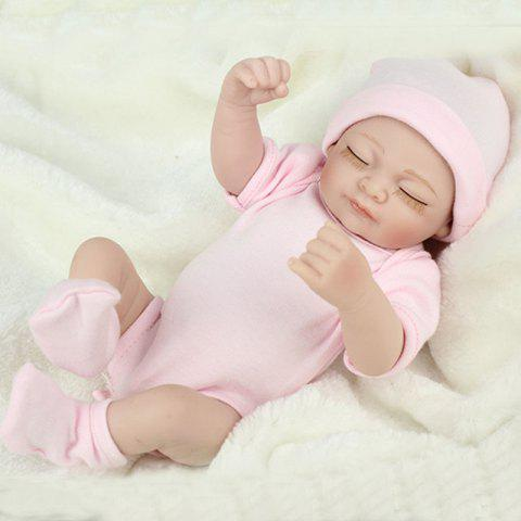 Mini pink 10inch Reborn Baby  Dolls Full Silicone Baby Doll Body - PINK 1PC