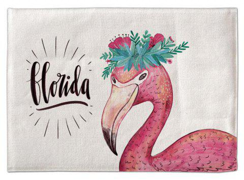 Guirlande 3D Flamingos Tapis de Table Hesse Imprimé Numérique Coupe Tapis - multicolor 30*45