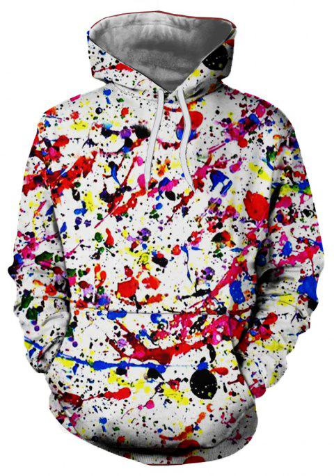 Chandail à capuchon coloré Graffiti Style Digital Print Men - multicolor 3XL