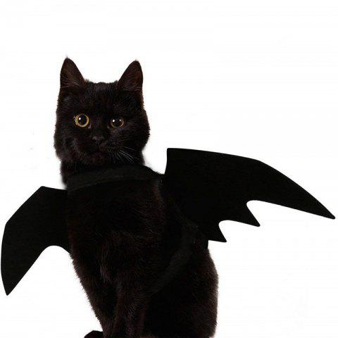 Halloween Pet Bat Wings Cat Dog Bat Costume - BLACK