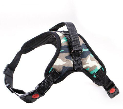Medium Large Dog Harness Nylon Reflective Collar Vest Harnesses Accessories - multicolor G M