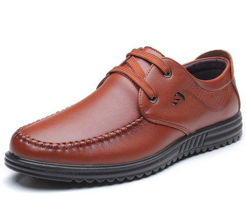 Men'S Leisure and Comfortable Business Shoes - BROWN EU 40