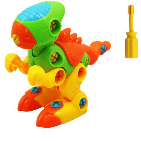 With Tools Dinosaurs Construction Engineering STEM Learning Toy Building - multicolor