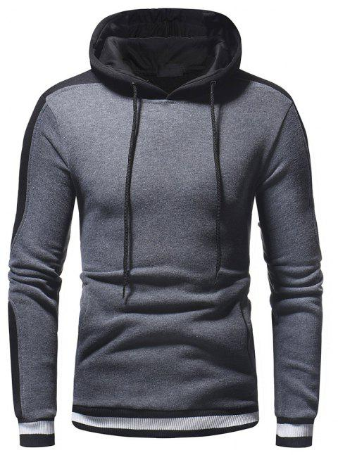 Pull à capuche Wild Sleeve Spell Color Men Leisure Wild - Gris M