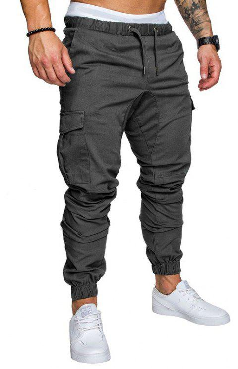 Casual Elastic Sports Trousers Men's Trousers - GRAY 3XL