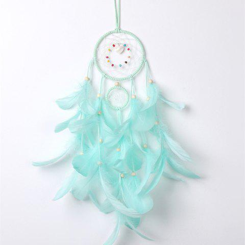 Dreamcatcher Wind Chimes Feather Pendant Dream Catcher Decoration - LIGHT SLATE 50*12CM
