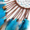 Flying Wind Chimes Dreamcatcher Feather Pendant - BLUE 47*13CM