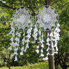 White Dreamcatcher Wind Chimes Indian Style Pearl Feather Pendant Gift - WHITE 90*40CM