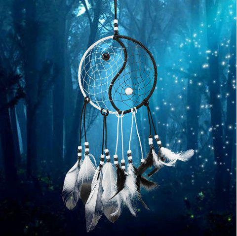 Dream Catcher with Feathers Car Wall Hanging Decoration Gift Wind Chimes - multicolor 50*30CM