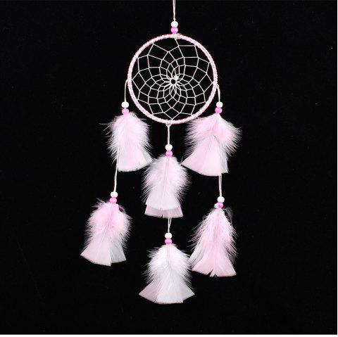 Handmade Feather Dream Catcher for Home Wall Decorations - multicolor A 45*11CM
